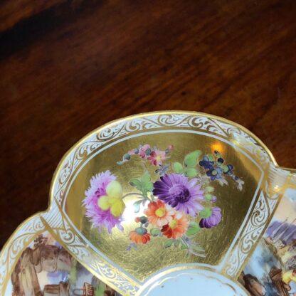Helena Wolfson Dresden chocolate cup & saucer, Meissen style, c. 1880-33440