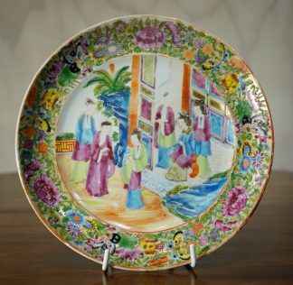 Chinese Cantonese porcelain dish