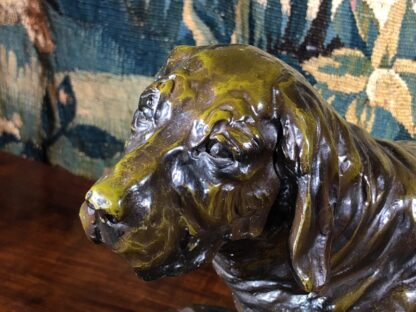 Bronze basset hound, after Jules Moigniez, early 20th century -33529