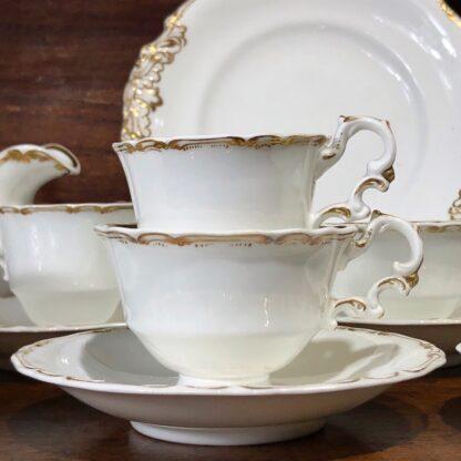 Copeland & Garrett tea service, setting for 6 with simple gilt, c. 1840 -33091