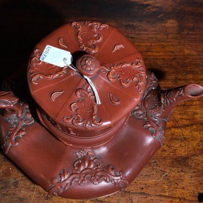 German Rococo red pottery tea service, Schiller & Gerbing, Bodenbach, c. 1840-33368