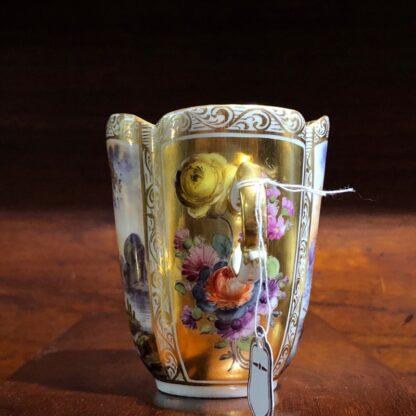Helena Wolfson Dresden chocolate cup & saucer, Meissen style, c. 1880-33427
