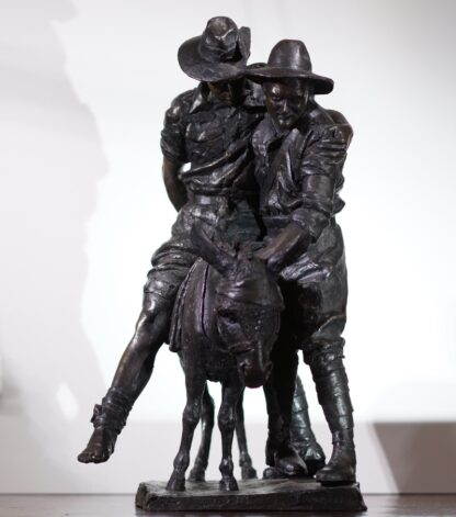 Simpson and his Donkey, ANZAC WWI memorial Bronze figure by Peter Corlett, 1988-33497