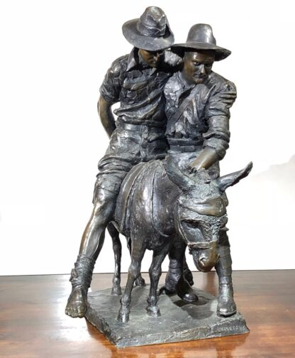 Simpson and his Donkey, ANZAC WWI memorial Bronze figure by Peter Corlett, 1988-0