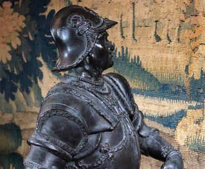 Bronzed figure of Bartolomeo Colleoni, after del Verrocchio, 1496. 19th/20th Century. -33519