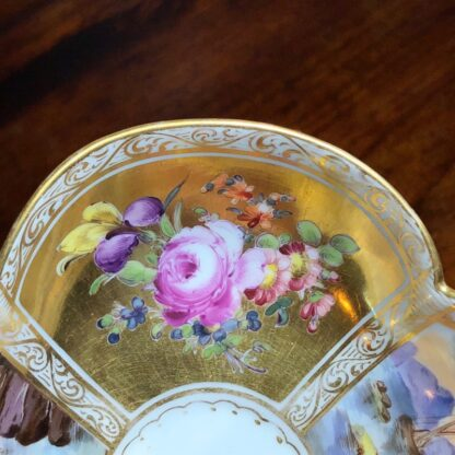 Helena Wolfson Dresden chocolate cup & saucer, Meissen style, c. 1880-33439