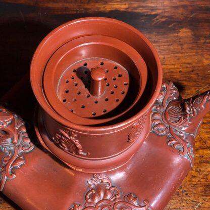 German Rococo red pottery tea service, Schiller & Gerbing, Bodenbach, c. 1840-33367