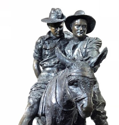 Simpson and his Donkey, ANZAC WWI memorial Bronze figure by Peter Corlett, 1988-33513