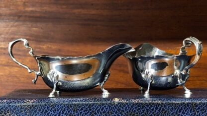 Pair of Sterling Silver sauce boats, London 1936, for Drummond, Melbourne-0