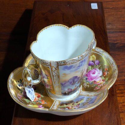Helena Wolfson Dresden chocolate cup & saucer, Meissen style, c. 1880-33435