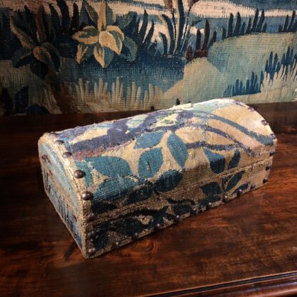 Aubusson Tapestry fragment, box mounted by Jacques Lamy, 17th & 20th century -0