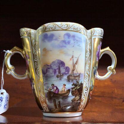 Helena Wolfson Dresden chocolate cup & saucer, Meissen style, c. 1880-33432
