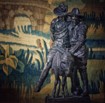 Simpson and his Donkey, ANZAC WWI memorial Bronze figure by Peter Corlett, 1988-33499
