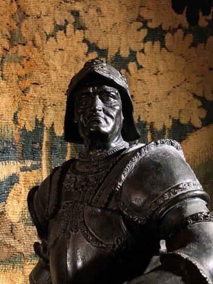 Bronzed figure of Bartolomeo Colleoni, after del Verrocchio, 1496. 19th/20th Century. -33510