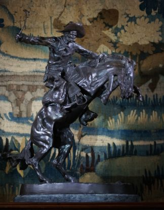 The Bronco Buster , bronze after Frederic Remington, later 20th century-0