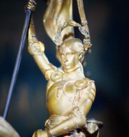 Barbedienne gilt bronze figure of Joan of Ark, after Emmanuel Frémiet, c. 1880 -33506
