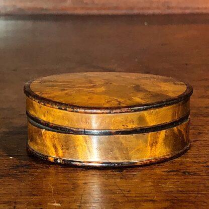 Treen & Tortoiseshell snuff box, c. 1800 -33613