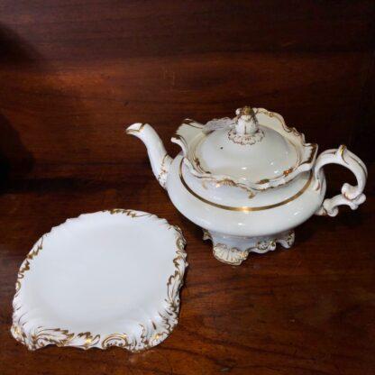 Copeland & Garrett tea service, setting for 6 with simple gilt, c. 1840 -33096
