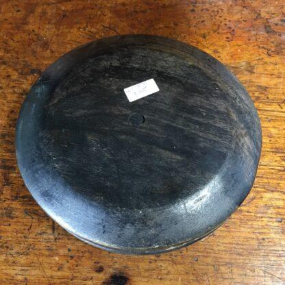 Sinhalese (Sri Lanka) porcupine round bowl, ebony & bone, c. 1900. -33215