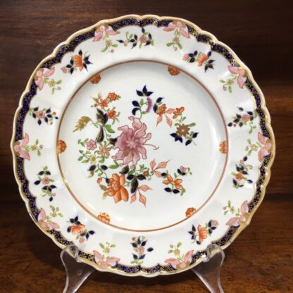 Masons ironstone plate, delicate Chinese Export flowers, c.1820 -0