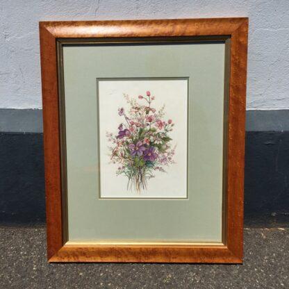 Daisy Wood watercolour, 'Australian Wildflowers', mid 20th century -0