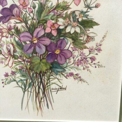 Daisy Wood watercolour, 'Australian Wildflowers', mid 20th century -33166