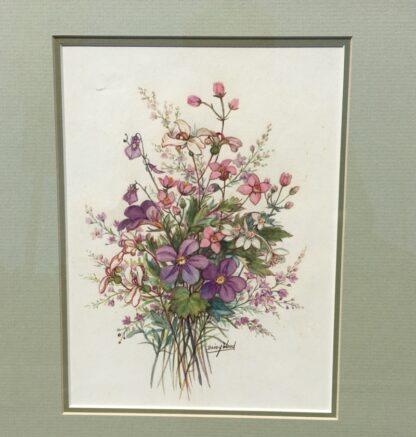 Daisy Wood watercolour, 'Australian Wildflowers', mid 20th century -33165