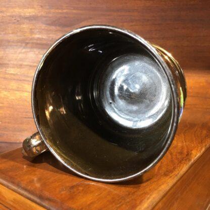 Victorian copper lustre mug, moulded flowers, c. 1830 -33225