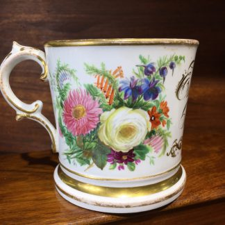 English Porcelain presentation mug, Emma Colclough May 1st 1842 -0
