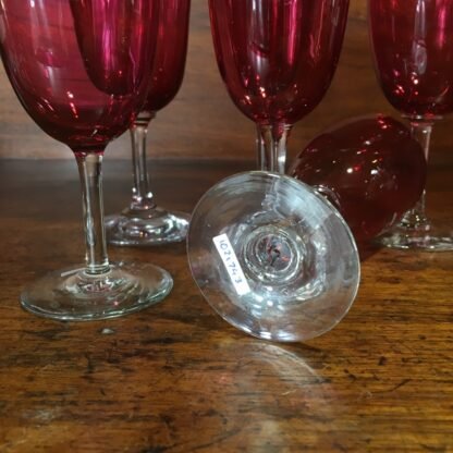 Set of six Victorian ruby wine glasses, c. 1890-33395
