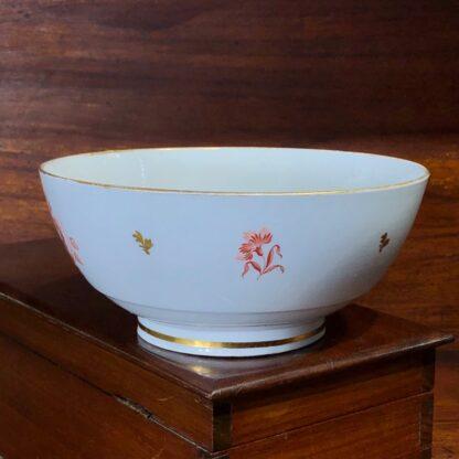 Barr Worcester bowl, red flower bat-prints, c.1800 -33194