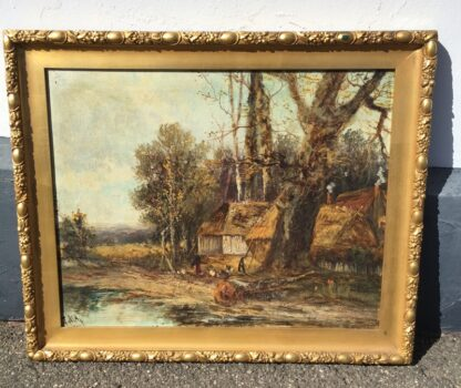 J. May -oil on canvas, impressionistic style landscape, late 19th century-33798
