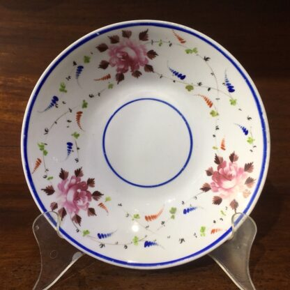 English porcelain dish, roses & flowersprays, c. 1815-33855