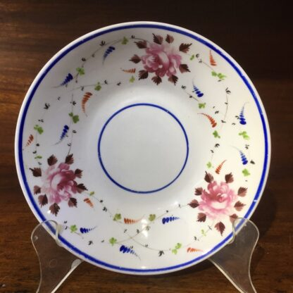 English porcelain dish, roses & flowersprays, c. 1815-33858