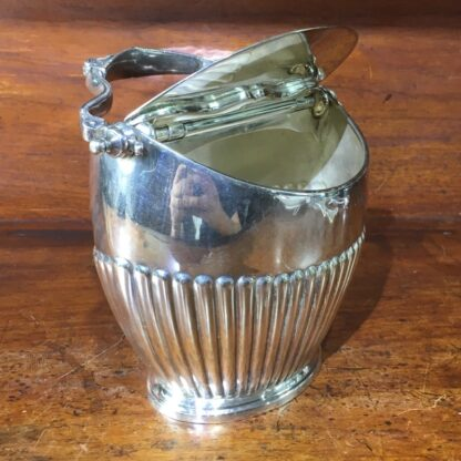 Edwardian silver plated sugar basin with hinged cover, c 1910 -33836