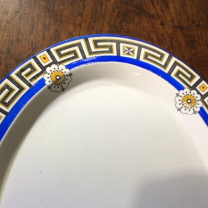 Minton serving platter, greek key & daisy pattern, 1881 -33840