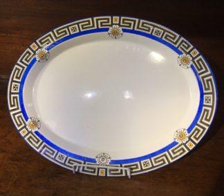 Minton serving platter, greek key & daisy pattern, 1881 -0