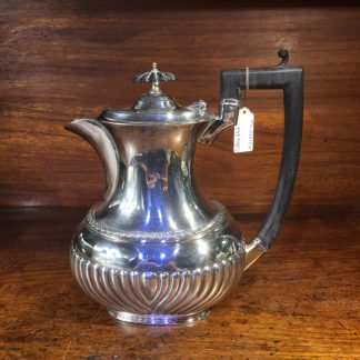 English Silver Plate coffee pot, Georgian style, c. 1890 -0