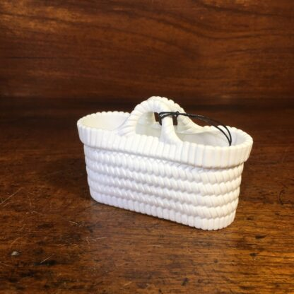 Sowerby pressed white glass basket, Circa 1880 -33981