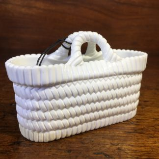 Sowerby pressed white glass basket, Circa 1880 -0