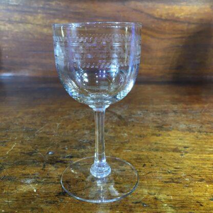 Greek Key pattern wine glass, c. 1900 -34085