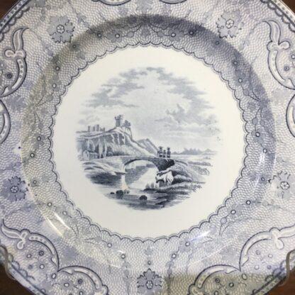 Copeland plate, 'Richmond views' print in grey, 1857-34080