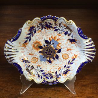 English Imari ironstone pottery serving dish, Masons style, c.1825-0