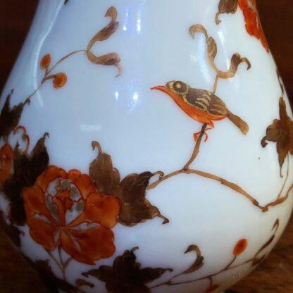 Chinese Export milk jug, unusual brown red & gilt bird & branches, c. 1760 -34012