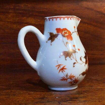 Chinese Export milk jug, unusual brown red & gilt bird & branches, c. 1760 -34004