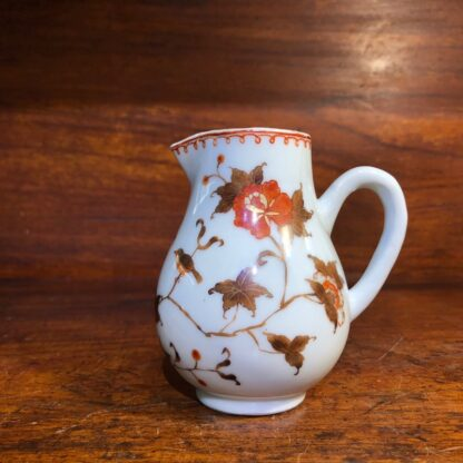 Chinese Export milk jug, unusual brown red & gilt bird & branches, c. 1760 -34011