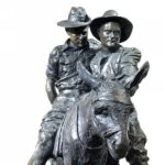 Simpson & Donkey, Bronze by Peter Corlett 1988