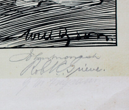 Dyson Anzac Print signatures