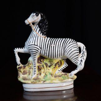 Staffordshire Pottery Zebra