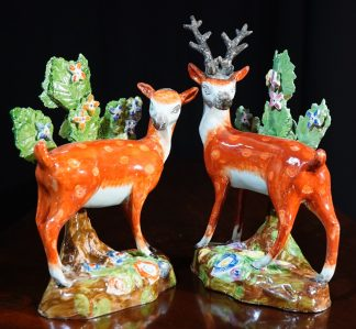 Staffordshire Pottery Deer